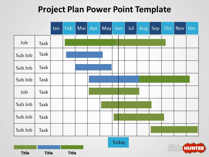 Free Project Plan PowerPoint Template pyevEaIK