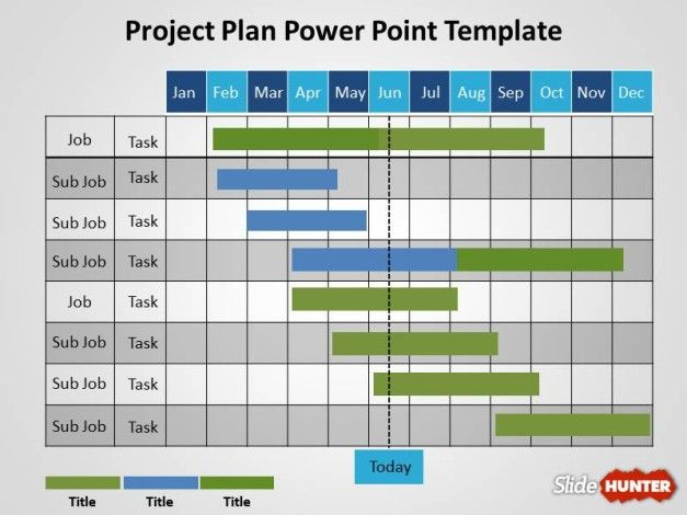 Gantt Project Plan Diagram for PowerPoint
