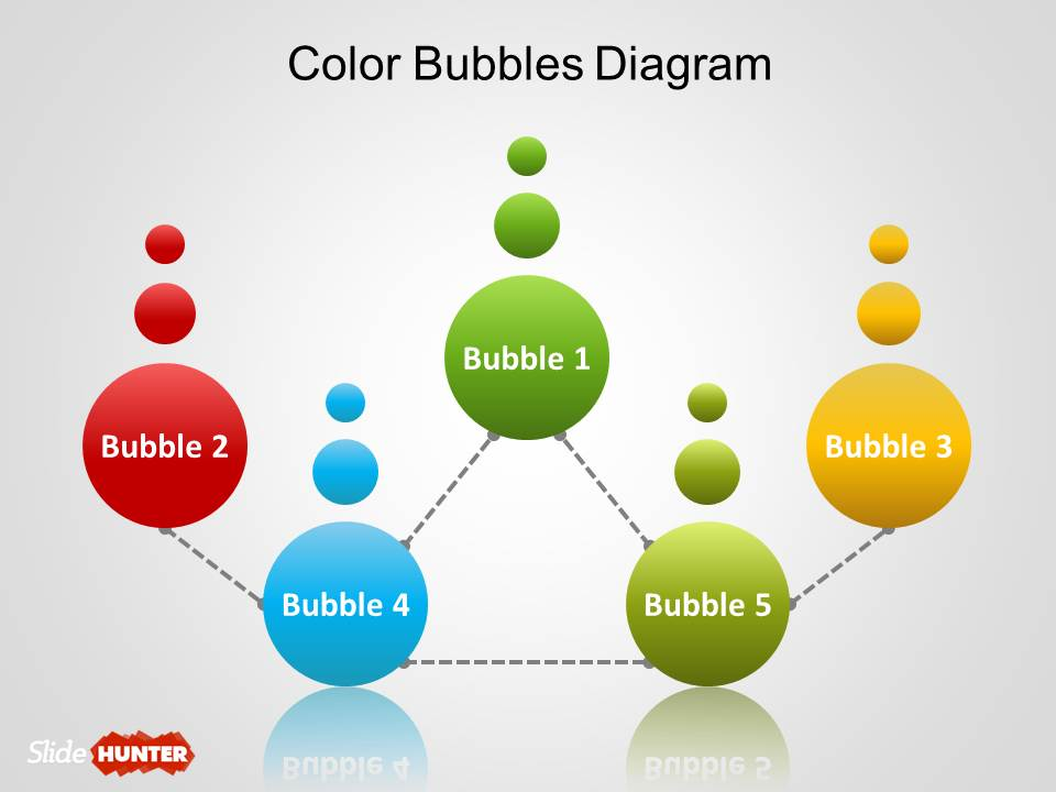 free simple bubbles diagram for powerpoint