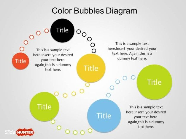 Free Color Bubble Diagrams for PowerPoint Template