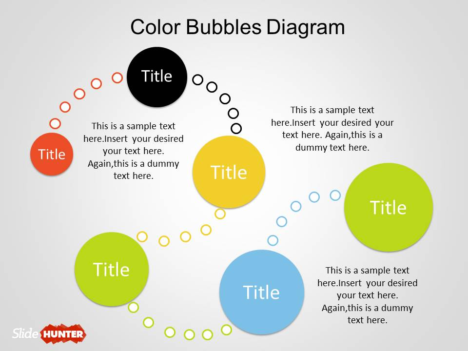Color Bubble Diagrams for PowerPoint