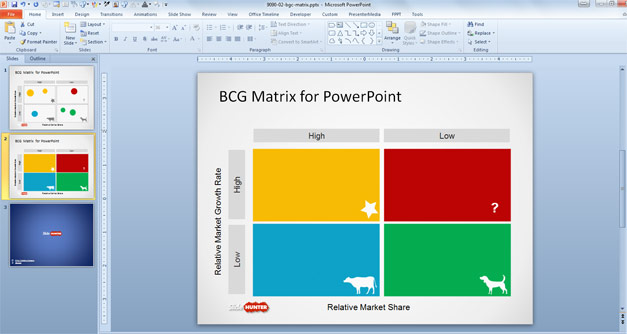 bcg matrix ppt free download
