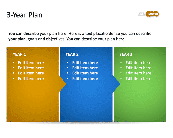 3-Year Strategic Plan PowerPoint Template