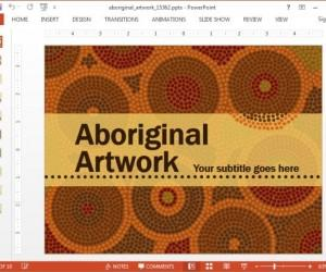 Animated Aboriginal Art Template For PowerPoint And Keynote