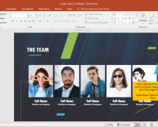 Animated Simple Slants Corporate PowerPoint Template