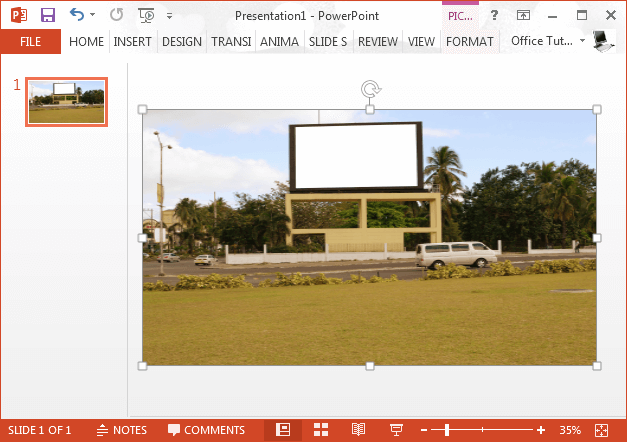 Add and adjust billboard image