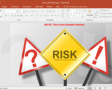 Animated Risk It PowerPoint Template