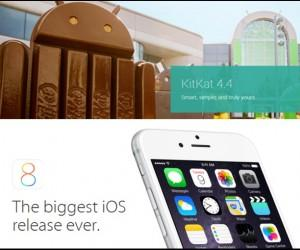 iOS 8 Vs Android Kitkat 4.4.4