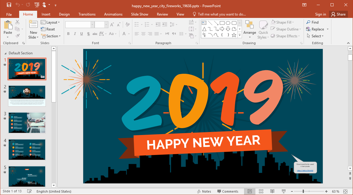New Year 2019 PowerPoint Templates