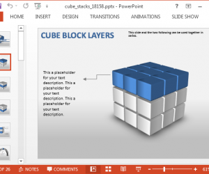 Editable 3D Cube PowerPoint Template With Animated Diagrams
