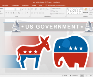 American Politics PowerPoint Template