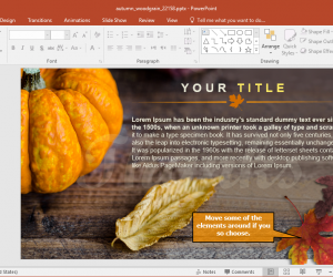 Animated Autumn Woodgrain Thanksgiving PowerPoint Template