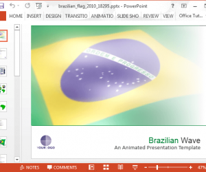 Animated Brazil Flag PowerPoint Template