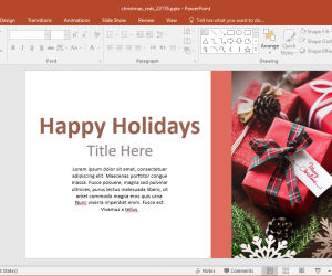 Animated Christmas Reds PowerPoint Template