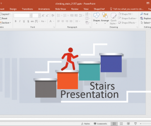 Animated Climbing Stairs PowerPoint Template