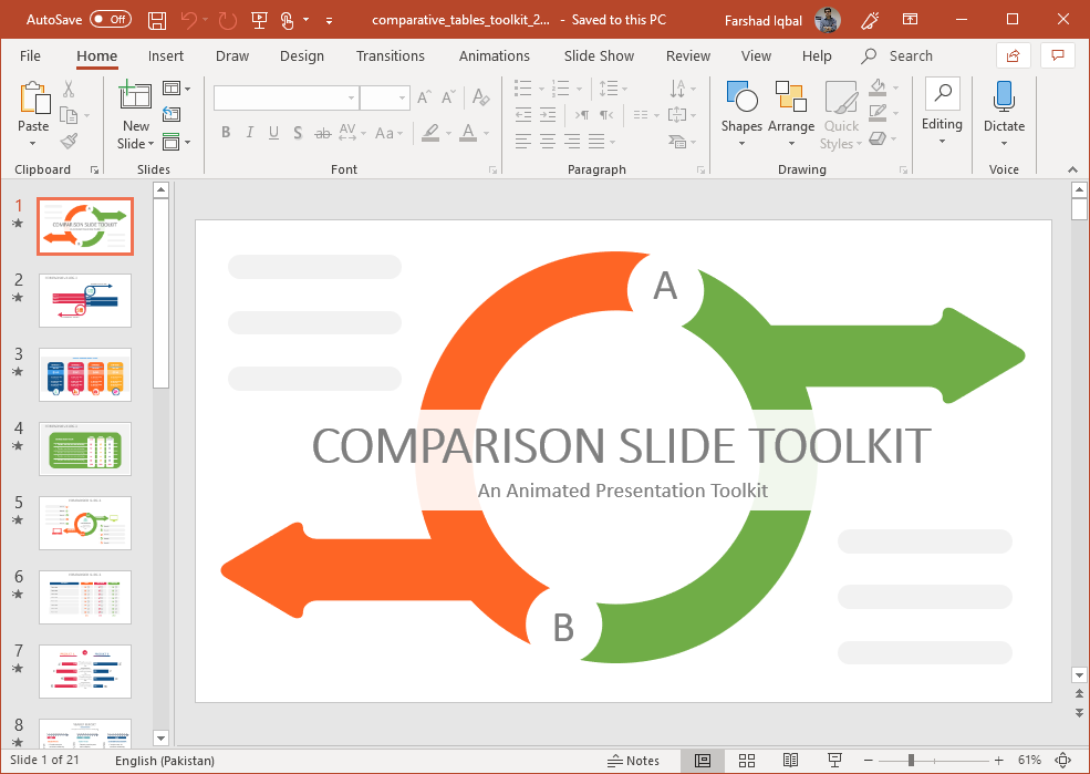 Animated Comparative Advantage Toolkit for PowerPoint