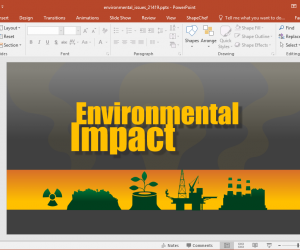 Animated Environmental Protection PowerPoint Template