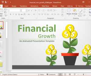 Animated Financial Coin Growth PowerPoint Template