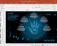 Animated PowerPoint Template for Futuristic Presentations