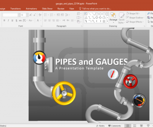 Animated Gauges And Pipes PowerPoint Template