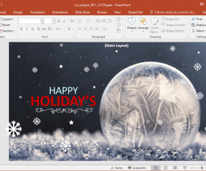 Animated Ice Eclipse Christmas PowerPoint Template