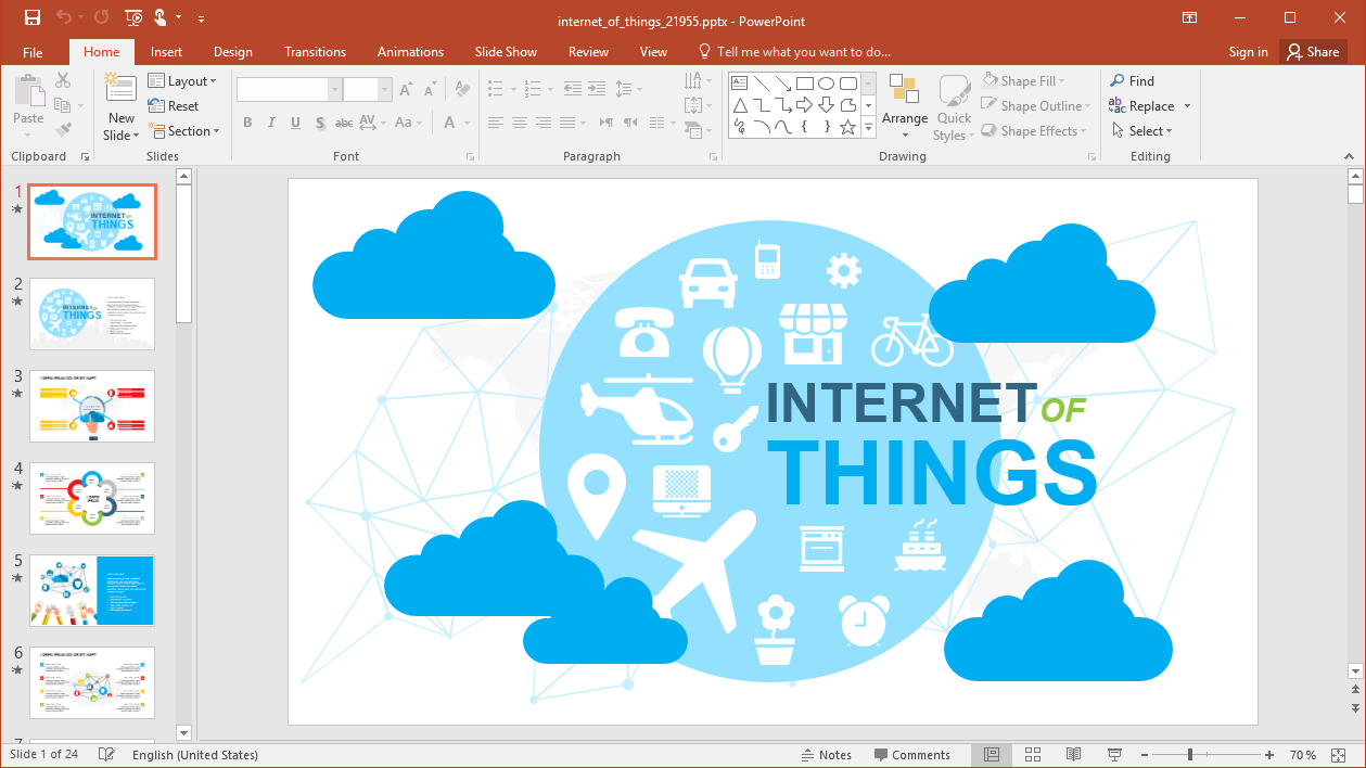 Animated Internet of Things PowerPoint Template
