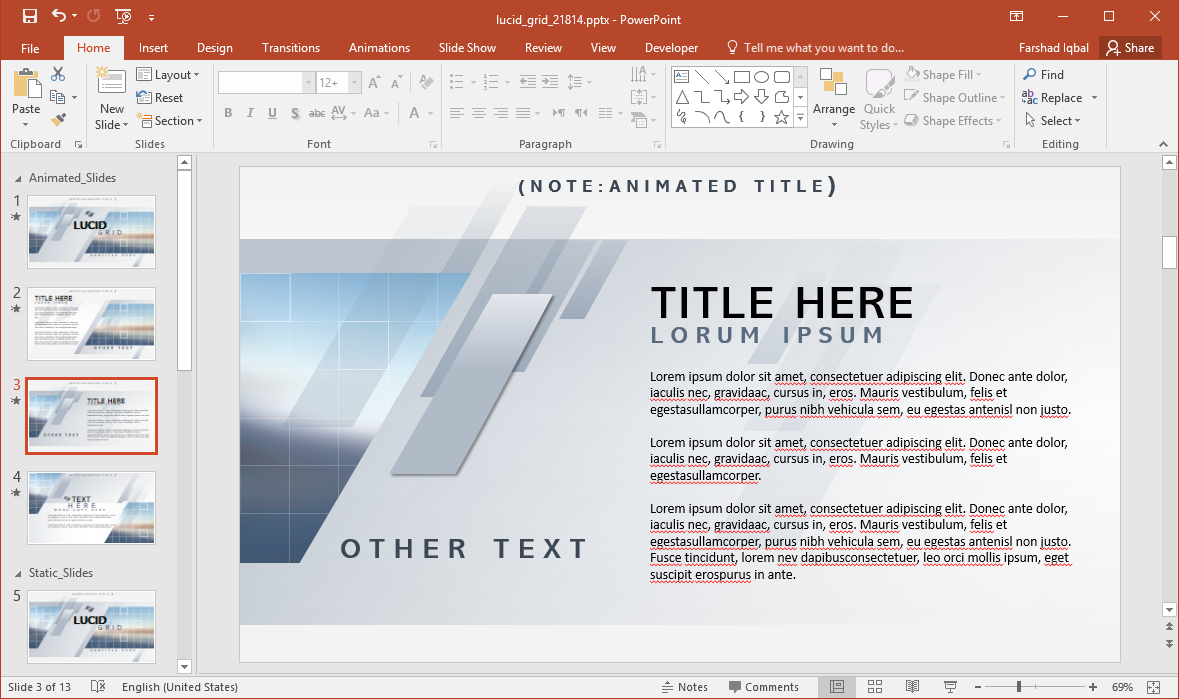 Animated Metal PowerPoint Template