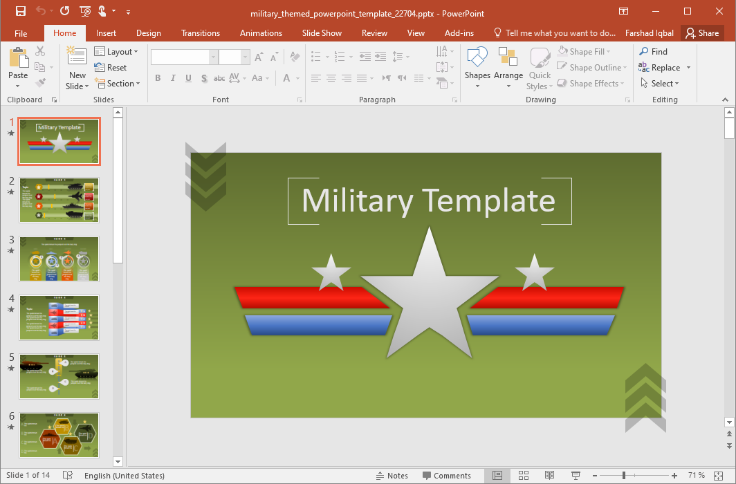 Animated Military Template for PowerPoint