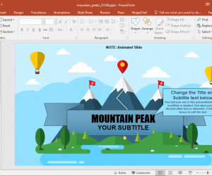 Animated Mountain Peaks PowerPoint Template
