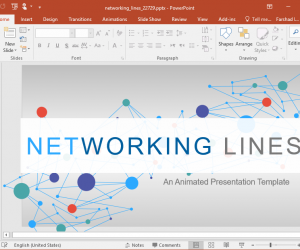 Animated Network PowerPoint Template Concept