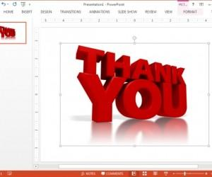 Animated PowerPoint Thank You Clip Art