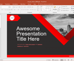 Animated Red Grey PowerPoint Template