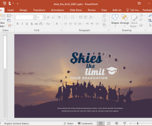 Animated Sky's The Limit PowerPoint Template