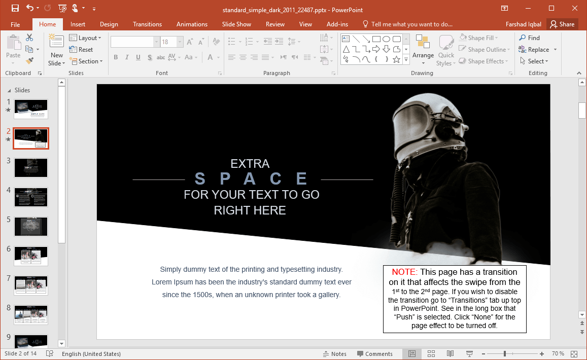 Animated Space PowerPoint Template