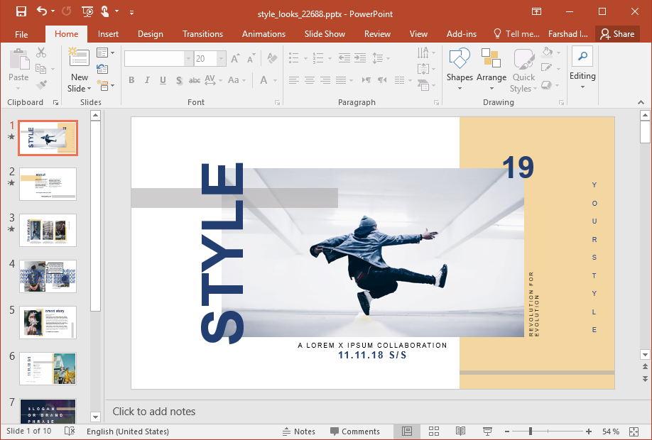 Animated Style Looks PowerPoint Template