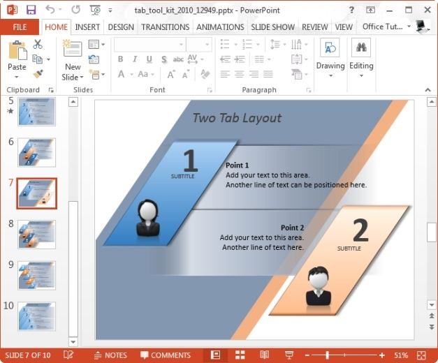Animated Tab Toolkit Template For PowerPoint