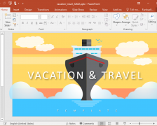 Animated Vacation & Travel PowerPoint Template