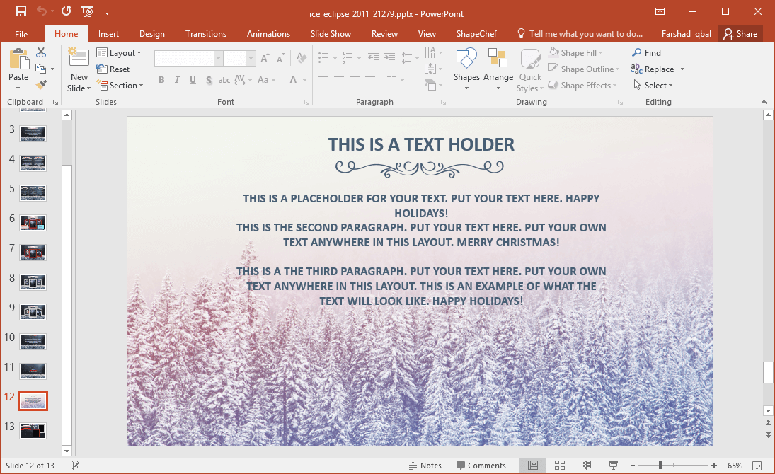 Animated Winter PowerPoint Template
