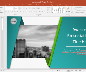 Animated Wrapping Shapes PowerPoint Template