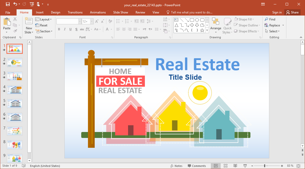 Animated Your Real Estate PowerPoint Template