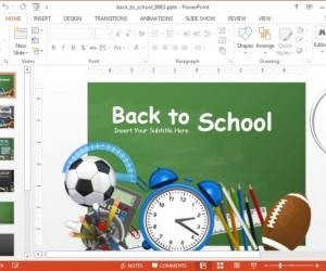 Creative Back To School Template for PowerPoint Presentations with Animated Effects