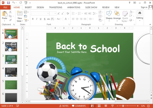 Animated Back To School Powerpoint Template