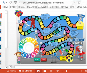 Animated Board Game Timeline Template For PowerPoint