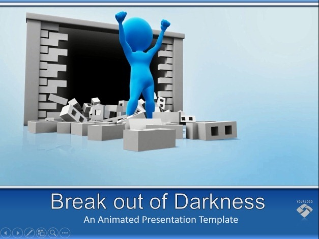 Animated break out PowerPoint template