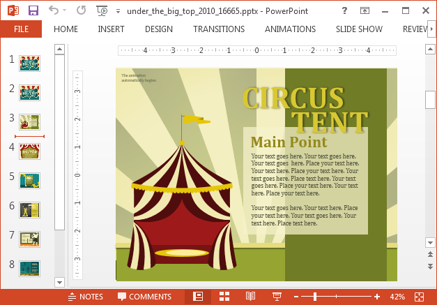 Animated carnival PowerPoint template