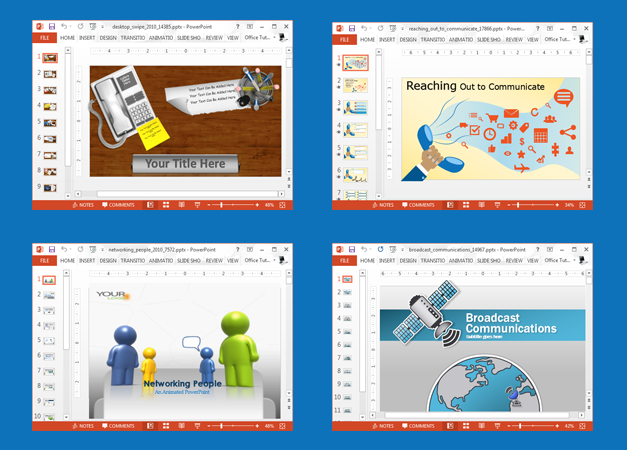 Animated communication PowerPoint templates