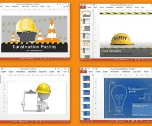 Animated Construction Templates For PowerPoint Presentations