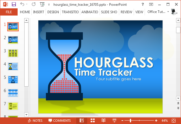 Animated hourglass PowerPoint template