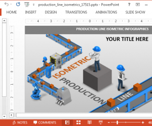 Animated Isometric Assembly Line PowerPoint Template