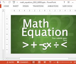Animated Math Equations For PowerPoint Presentations